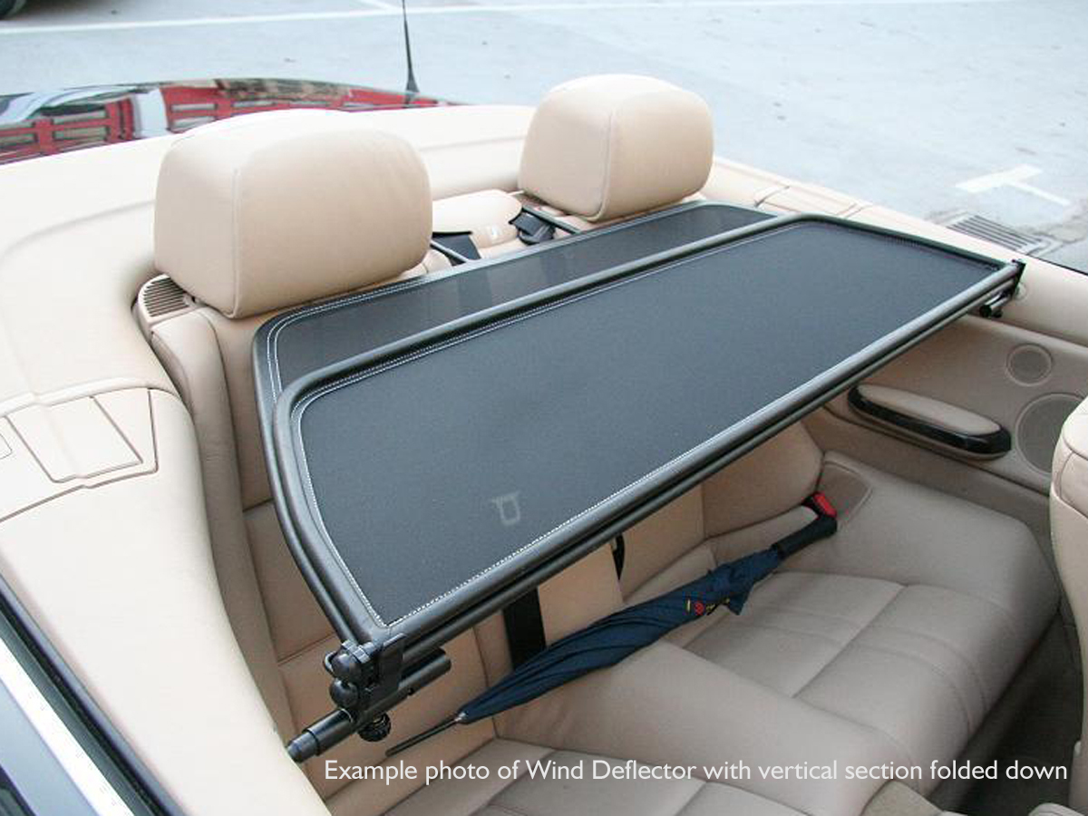vw volkswagen eos wind deflector 2006 2016 mesh black ebay. Black Bedroom Furniture Sets. Home Design Ideas